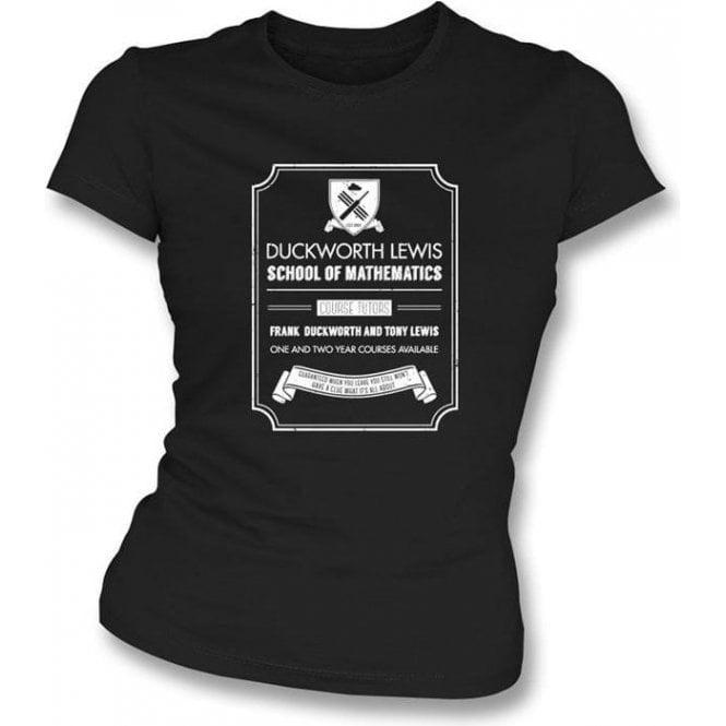 Duckworth Lewis School Of Mathematics Womens Slimfit T-Shirt