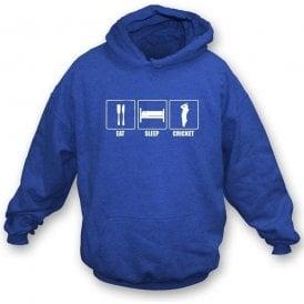 Eat, Sleep, Cricket Childrens Hooded Sweatshirt