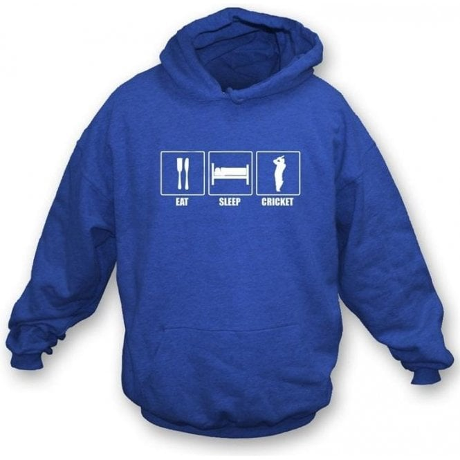 Eat, Sleep, Cricket Hooded Sweatshirt