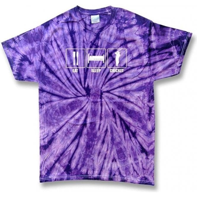 Eat. Sleep. Cricket. Tie Dye T-shirt