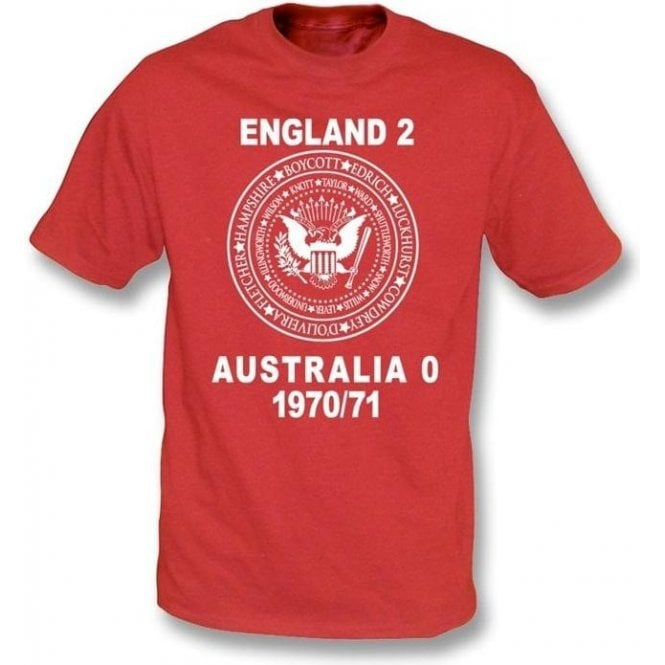 England 2 Australia 0 Ashes 1970/71 T-shirt