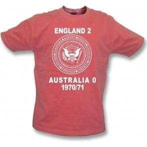 England 2 Australia 0 Ashes 1970/71 Vintage T-shirt