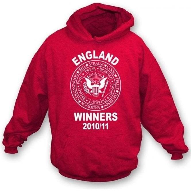 England Ashes Winners 2010/11 (Ramones Style) Hooded Sweatshirt