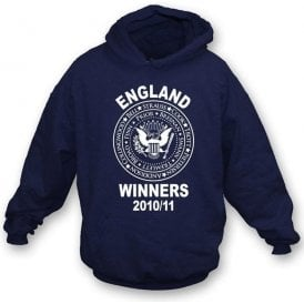 England Ashes Winners 2010/11 (Ramones Style) Hooded Sweatshirt