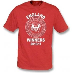 England Ashes Winners 2010/11 (Ramones Style) Red t-shirt