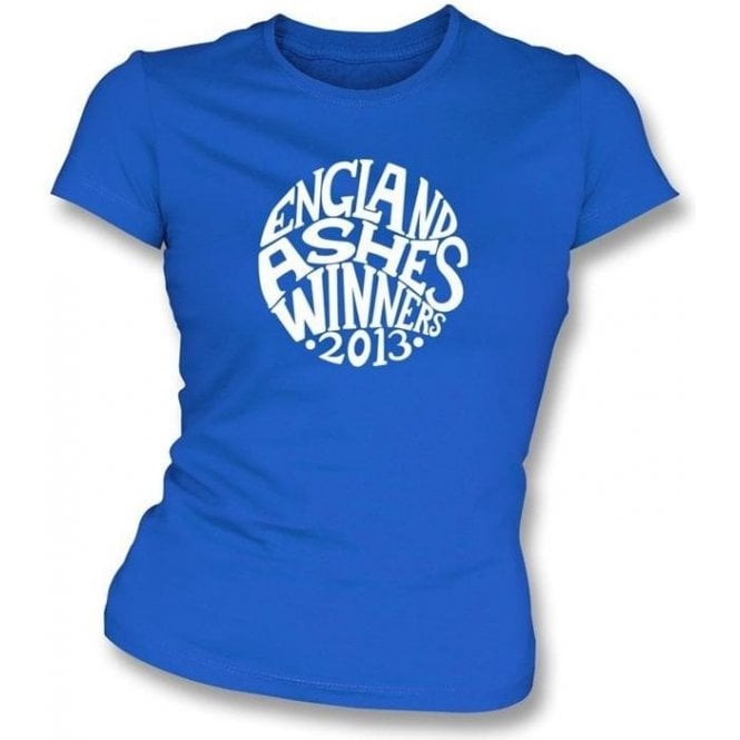 England Ashes Winners 2013 (Pretty Green Style) Women's Slimfit T-shirt