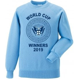 England Cricket World Cup Winners 2019 (Ramones Style) Kids Sweatshirt
