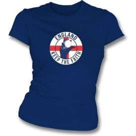 England Keep The Faith Women's Slimfit T-shirt
