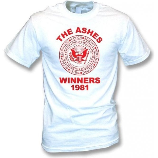 England The Ashes Winners 1981 Ramones style T-shirt