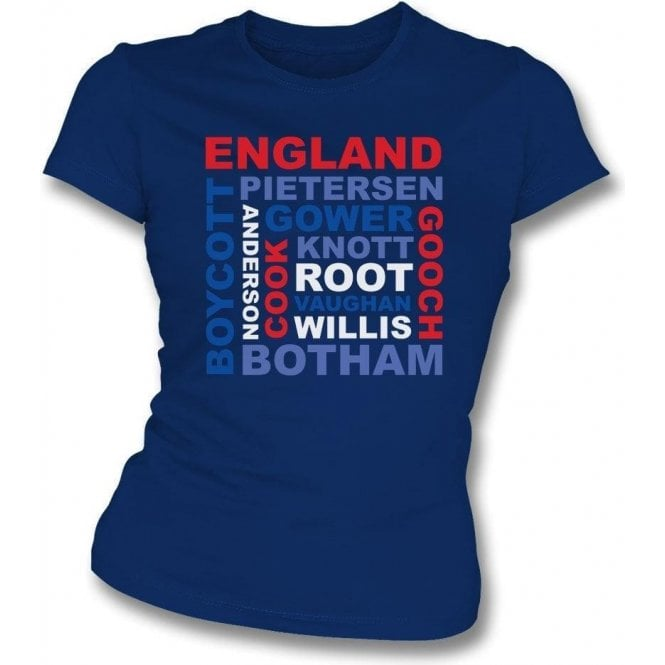 England World Cup Legends Womens Slim Fit T-Shirt