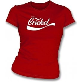 Enjoy Cricket -Ladies Slim-Fit T-shirt