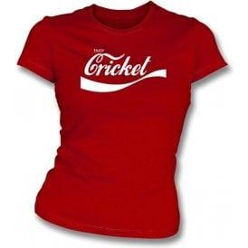 Enjoy Cricket -Ladies Slim-Fit T-shirt
