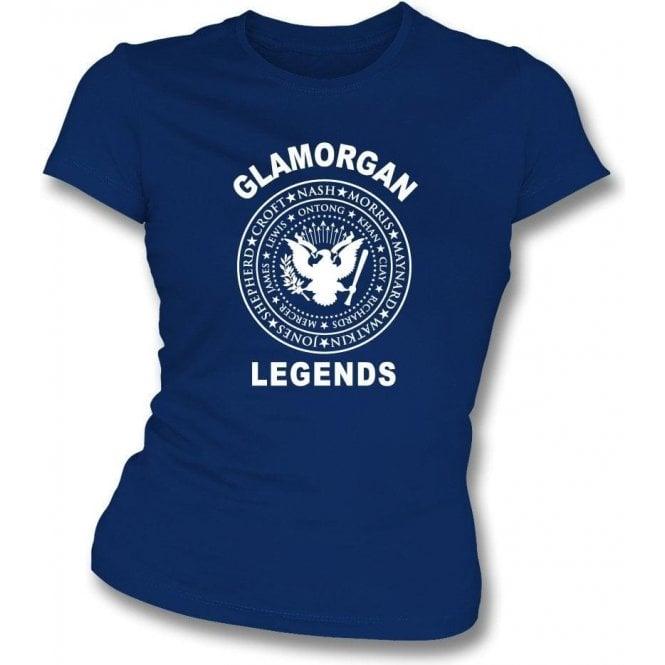 Glamorgan Legends (Ramones Style) Womens Slim Fit T-Shirt