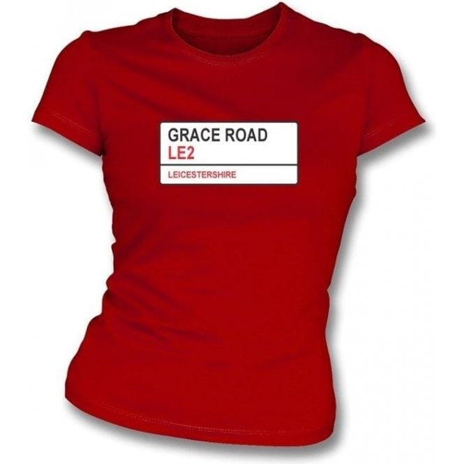 Grace Road LE2 Women's Slim Fit T-shirt (Leicestershire)