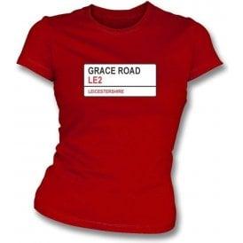 Grace Road LE2 Women's Slim Fit T-shirt (Leicestershire)