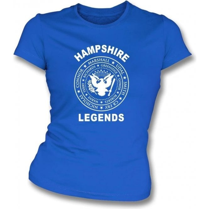 Hampshire Legends (Ramones Style) Womens Slim Fit T-Shirt