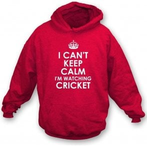 I Can't Keep Calm, I'm Watching Cricket Kids Hooded Sweatshirt