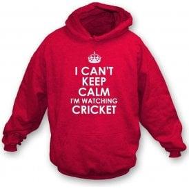 I Can't Keep Calm, I'm Watching Cricket Kids Hooded Sweatshirt