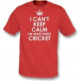 I Can't Keep Calm, I'm Watching Cricket Kids T-Shirt