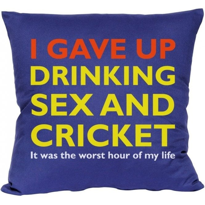 I Gave Up Drinking Sex & Cricket Cushion