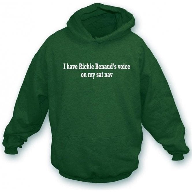 I Have Richie Benaud's Voice On My Sat Nav Hooded Sweatshirt