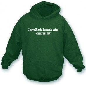 I Have Richie Benaud's Voice On My Sat Nav Hooded Sweatshirt