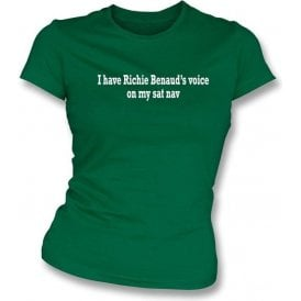 I Have Richie Benaud's Voice On My Sat Nav Womens Slimfit T-Shirt