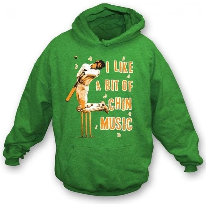 I Like a bit of Chin Music Hooded Sweatshirt