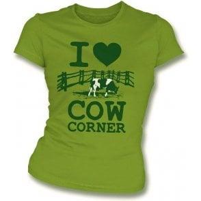I Love Cow Corner Womens Slim Fit T-Shirt