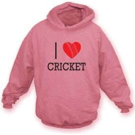 I Love Cricket Hooded Sweatshirt
