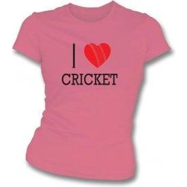 I Love Cricket Womens Slim Fit T-Shirt