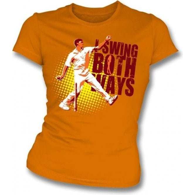 I Swing Both Ways Womens Slim Fit T-Shirt