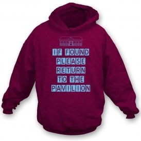If Found Please Return To The Pavilion Hooded Sweatshirt