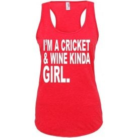 I'm A Cricket & Wine Kinda Girl Women's Tank Top