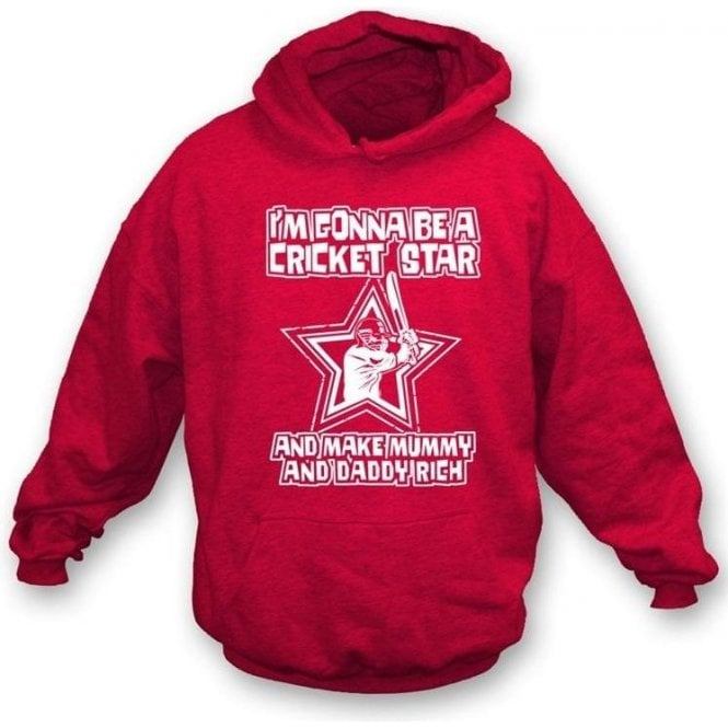 I'm Gonna Be A Cricket Star Childrens Hooded Sweatshirt