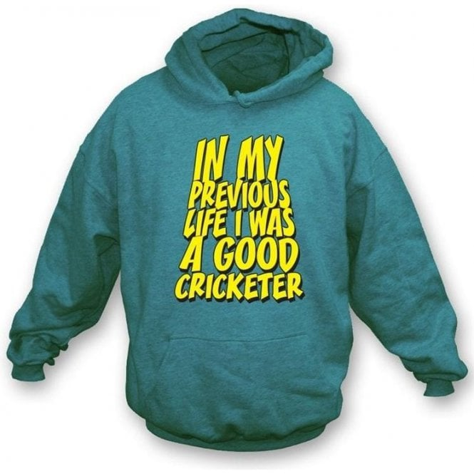 In my previous life I was a good Cricketer Hooded Sweatshirt