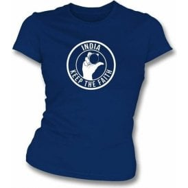 India Keep The Faith Women's Slimfit T-shirt