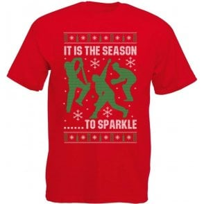 It Is The Season To Sparkle Christmas Kids T-Shirt