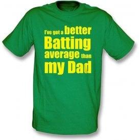 I've got a better batting average childrens t-shirt