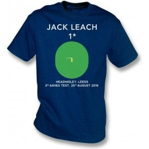 Jack Leach 1 Not Out (Headingley 2019) Kids T-Shirt