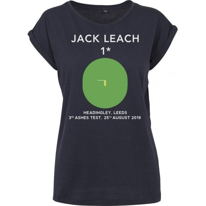 Jack Leach 1 Not Out (Headingley 2019) Womens Extended Shoulder T-Shirt