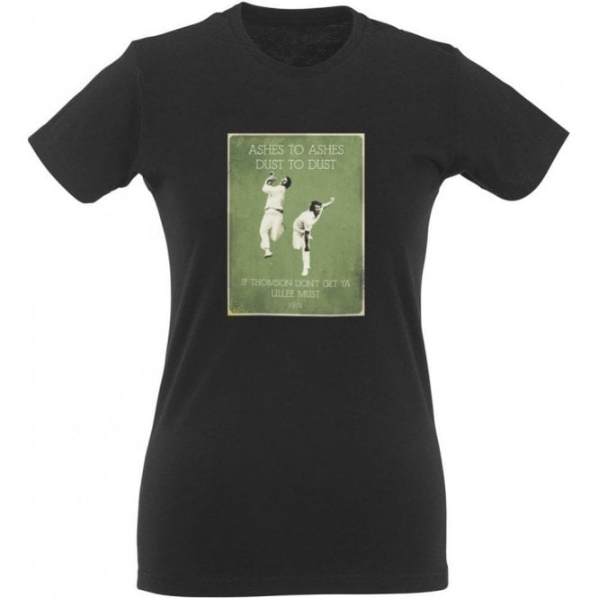 Jeff Thomson/Dennis Lillee (1974) Vintage Poster Womens Slim Fit T-Shirt