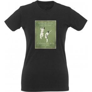 Jeff Thomson/Dennis Lillee (1974) Vintage Poster Womens Slim Fit T-Shirt