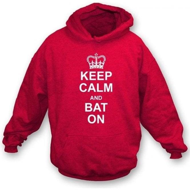 Keep Calm and Bat On Hooded Sweatshirt