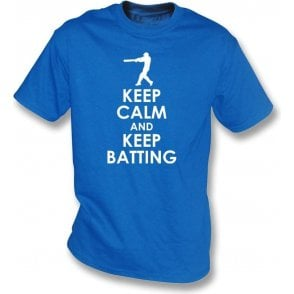 Keep Calm And Keep Batting Kids T-Shirt