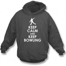 Keep Calm And Keep Bowling Kids Hooded Sweatshirt