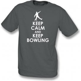 Keep Calm And Keep Bowling Kids T-Shirt