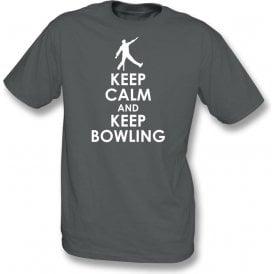 Keep Calm And Keep Bowling Kids T-Shirt