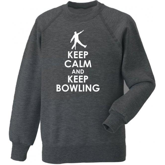 Keep Calm And Keep Bowling Sweatshirt