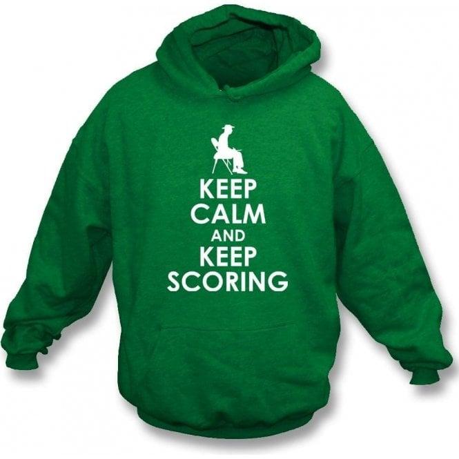 Keep Calm And Keep Scoring Kids Hooded Sweatshirt